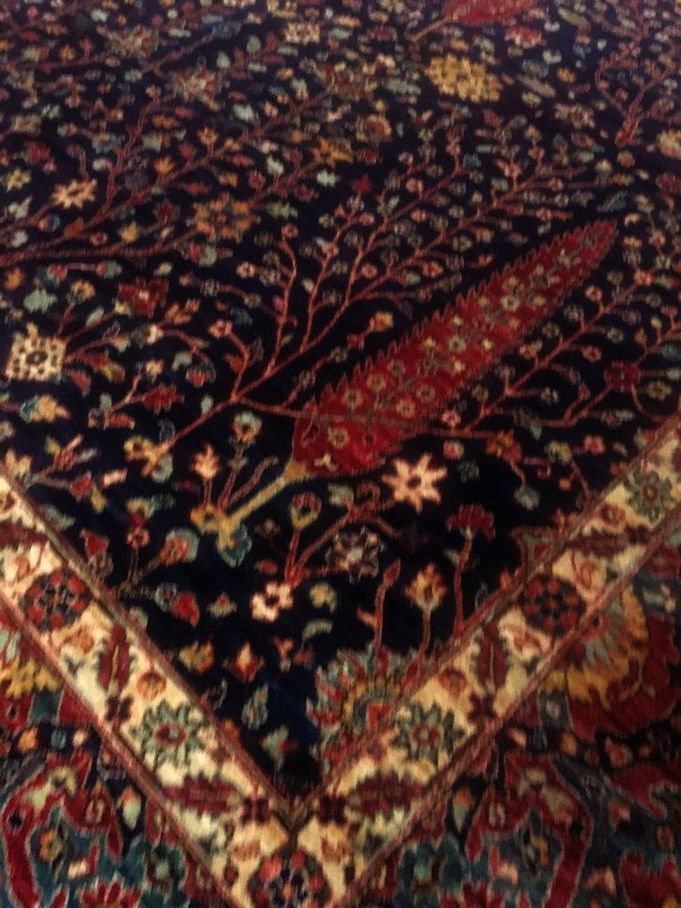 Afghan Carpet with Persian Bakhshaish Garden Rug Design In New Condition For Sale In Lohr, Bavaria, DE