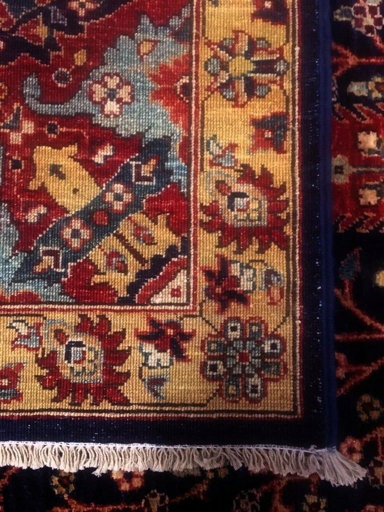 Contemporary Afghan Carpet with Persian Bakhshaish Garden Rug Design For Sale