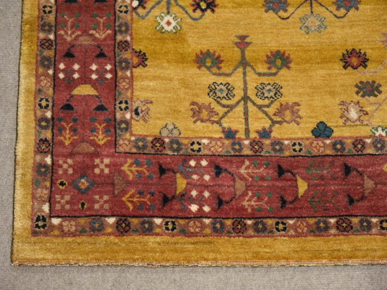 Wool Hand-Knotted Baharlu Design Rug For Sale