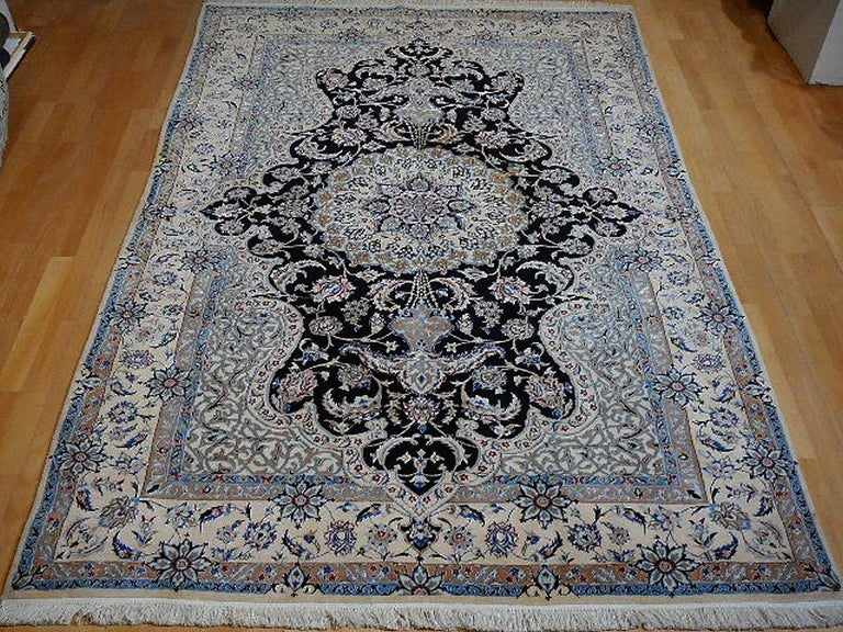 Wool Very Fine Nain Rug For Sale