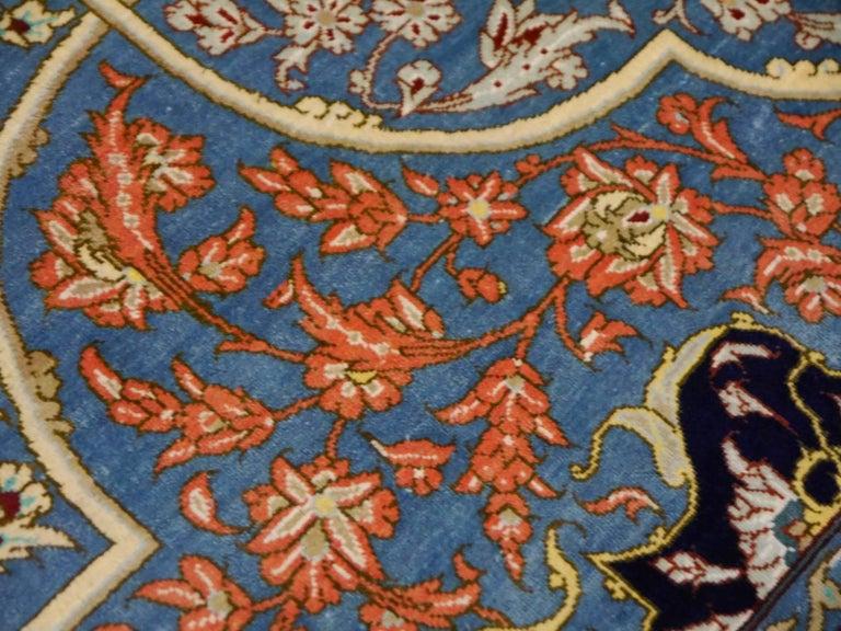 Persian Qum Pure Silk Rug For Sale 1