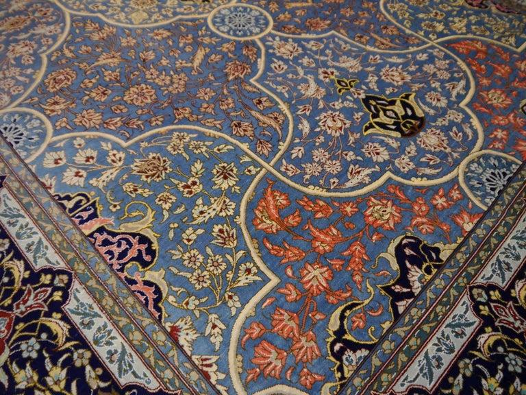 Persian Qum Pure Silk Rug For Sale 4
