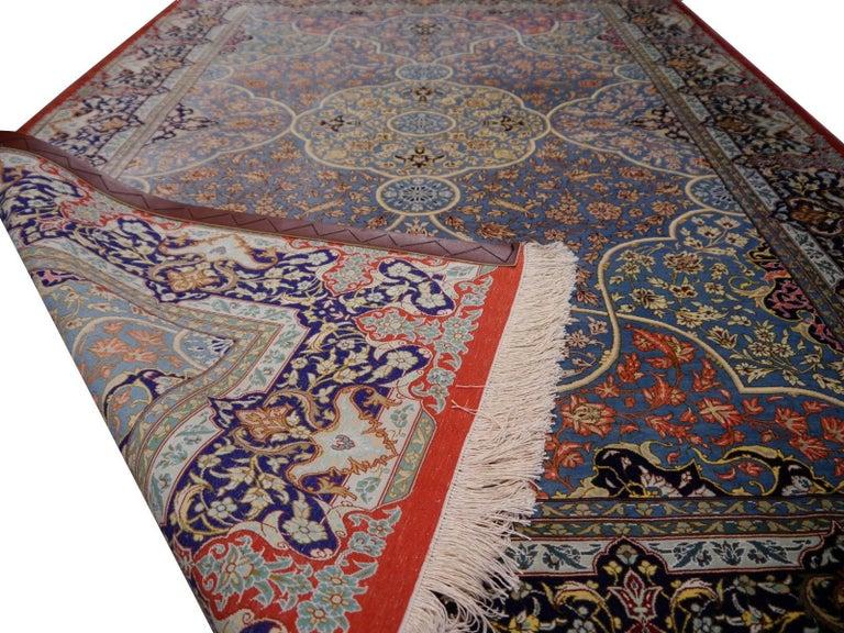 Persian Qum Pure Silk Rug For Sale 6