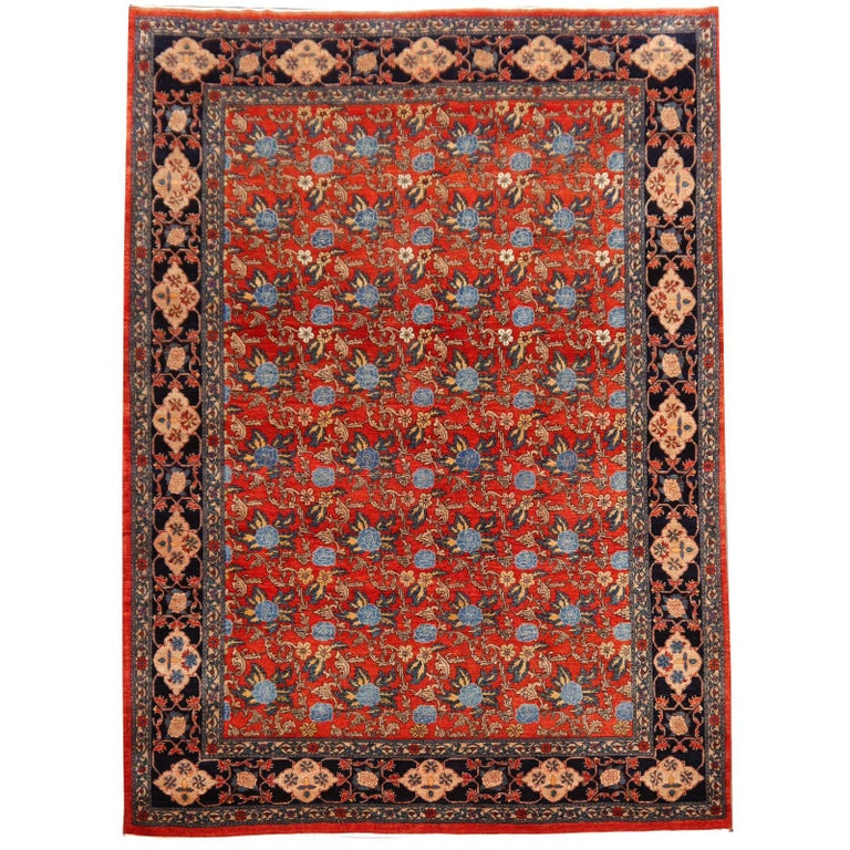 Azeri Turkish Vintage Rug with Vegetable Dyes For Sale