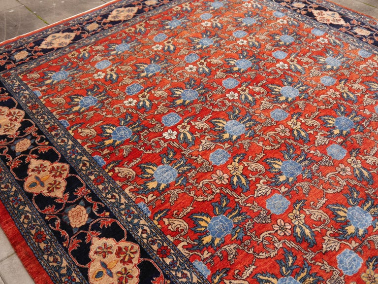Vintage Turkish Azeri rug  A beautiful Turkish Azeri rug from eastern Anatolia. Best quality wool and vegetable dyes. Azeri rugs are a re-birth of traditional rug making in Turkey, pushed by dealers who ordered high class rugs for the US market.