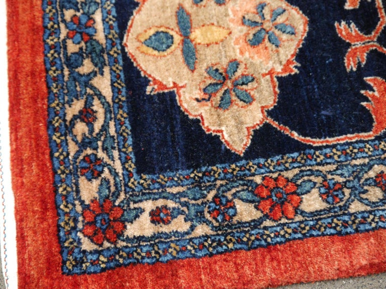 Tribal Azeri Turkish Vintage Rug with Vegetable Dyes For Sale