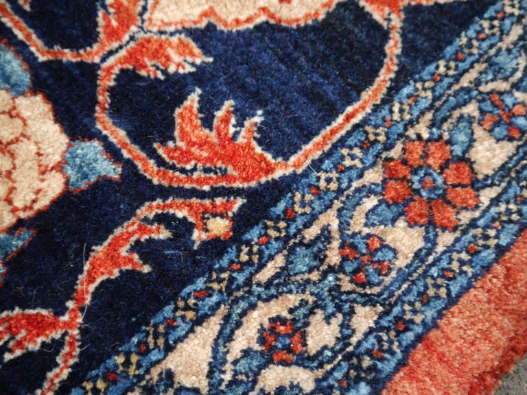 Azeri Turkish Vintage Rug with Vegetable Dyes In Excellent Condition For Sale In Lohr, Bavaria, DE