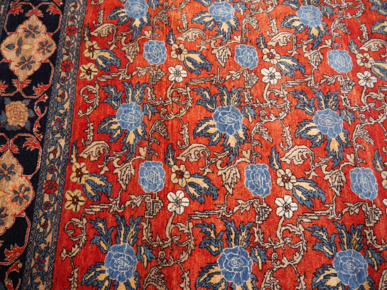 Wool Azeri Turkish Vintage Rug with Vegetable Dyes For Sale