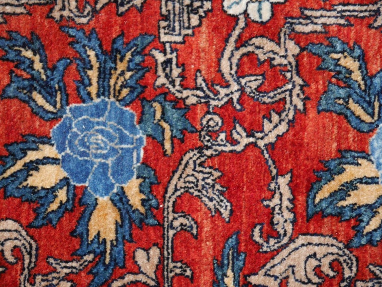 Azeri Turkish Vintage Rug with Vegetable Dyes For Sale 1