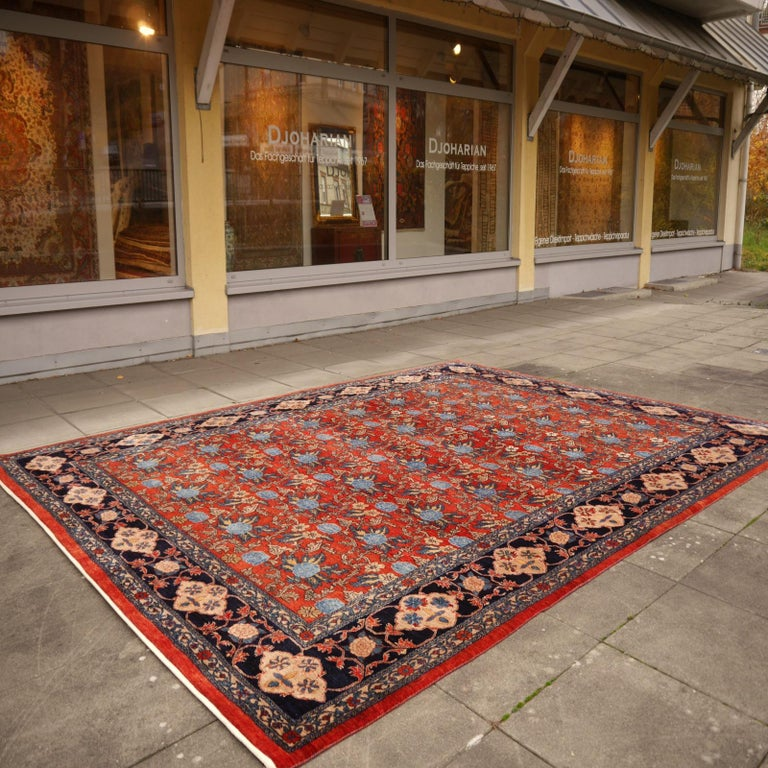 Azeri Turkish Vintage Rug with Vegetable Dyes For Sale 2