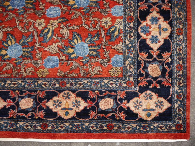Azeri Turkish Vintage Rug with Vegetable Dyes For Sale 3