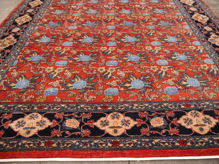 Azeri Turkish Vintage Rug with Vegetable Dyes For Sale 4