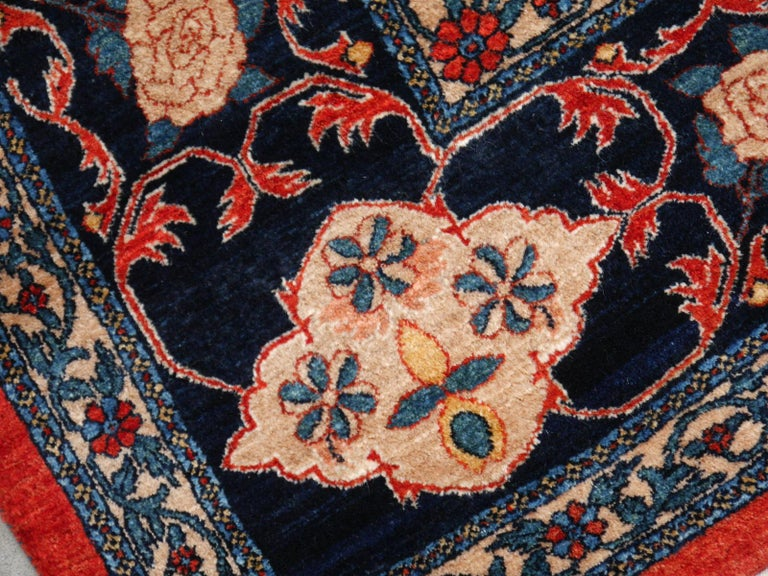 Azeri Turkish Vintage Rug with Vegetable Dyes For Sale 5