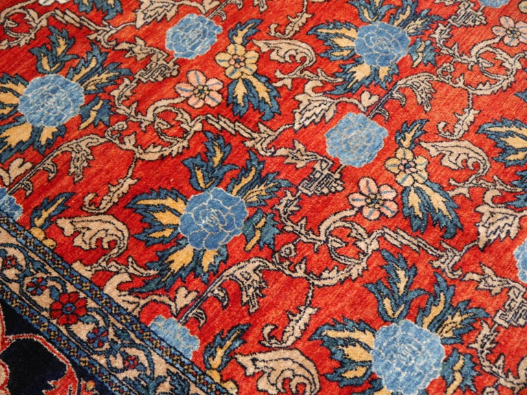 Azeri Turkish Vintage Rug with Vegetable Dyes For Sale 7