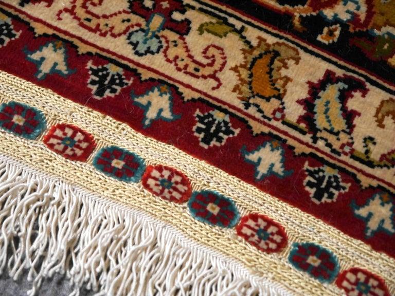 Islamic Pure Silk Hereke Ozipek Turkish Rug Signed For Sale