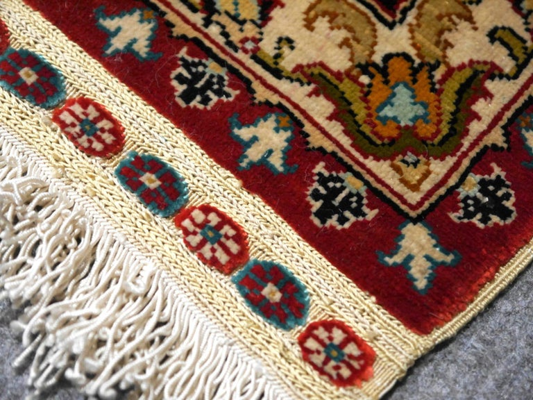 Hand-Knotted Pure Silk Hereke Ozipek Turkish Rug Signed For Sale