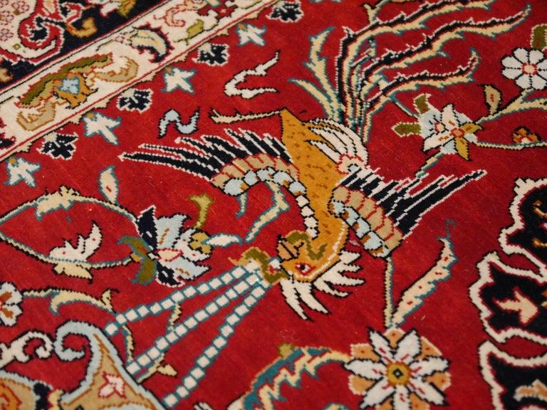 Pure Silk Hereke Ozipek Turkish Rug Signed For Sale 1