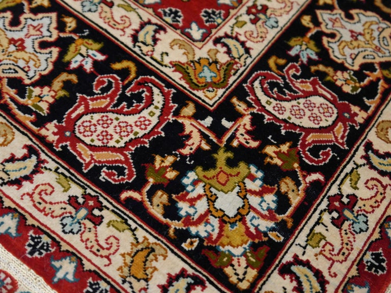 20th Century Pure Silk Hereke Ozipek Turkish Rug Signed For Sale
