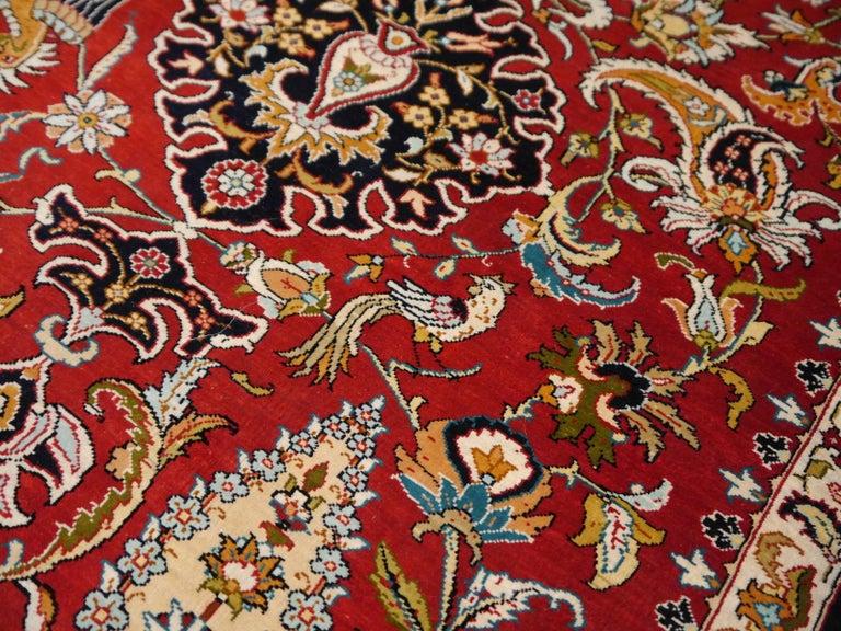 Pure Silk Hereke Ozipek Turkish Rug Signed For Sale 2