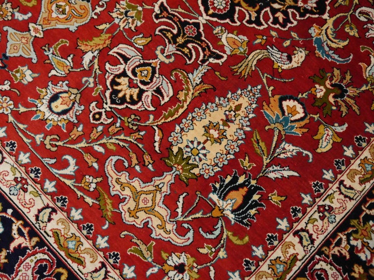 Pure Silk Hereke Ozipek Turkish Rug Signed For Sale 4