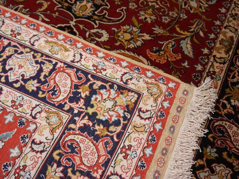Pure Silk Hereke Ozipek Turkish Rug Signed For Sale 5