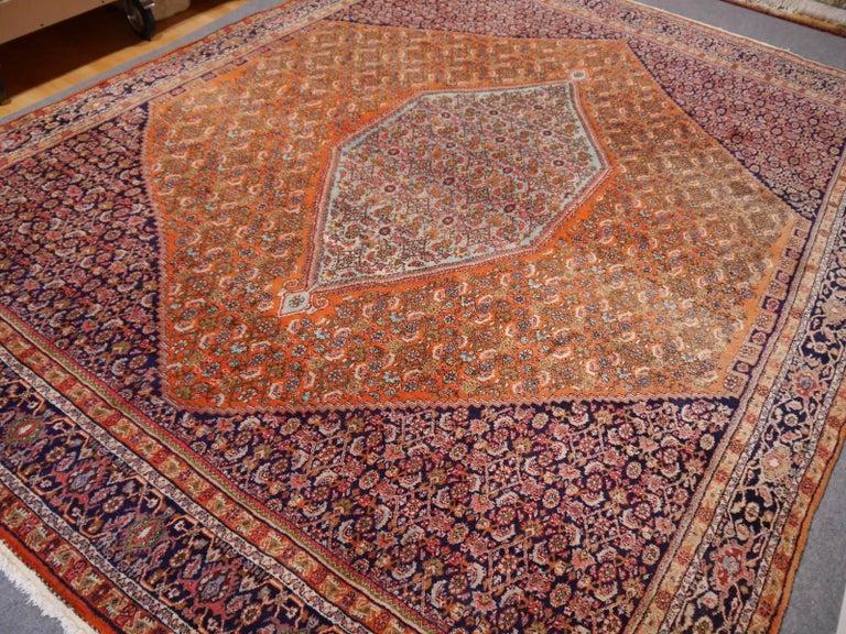Persian Large Semi Antique Bidjar Rug For Sale