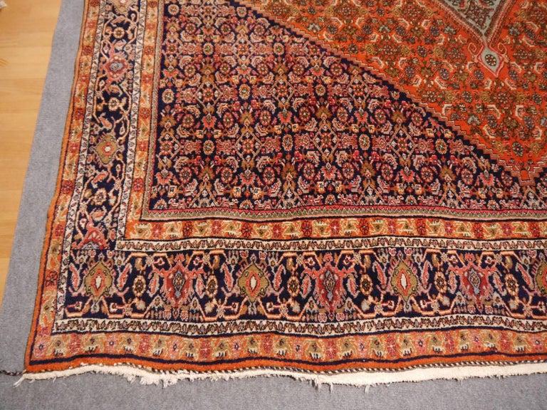 Wool Large Semi Antique Bidjar Rug For Sale