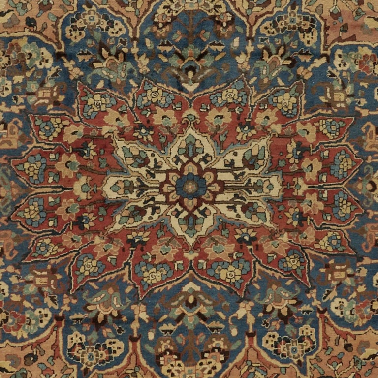 Very large tribal Bakhtiari carpet, hand-knotted in ancient Persia. Fine wool with lusterus shine and natural dyes combine this rare item to a glance in any representative room.