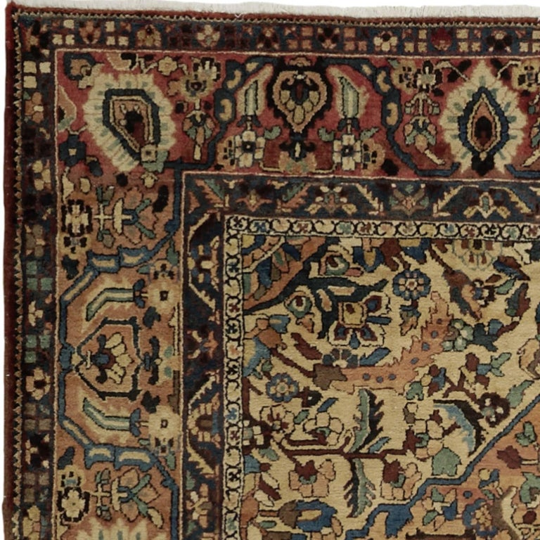 Tribal Oversize Antique Bakhtiari Carpet For Sale