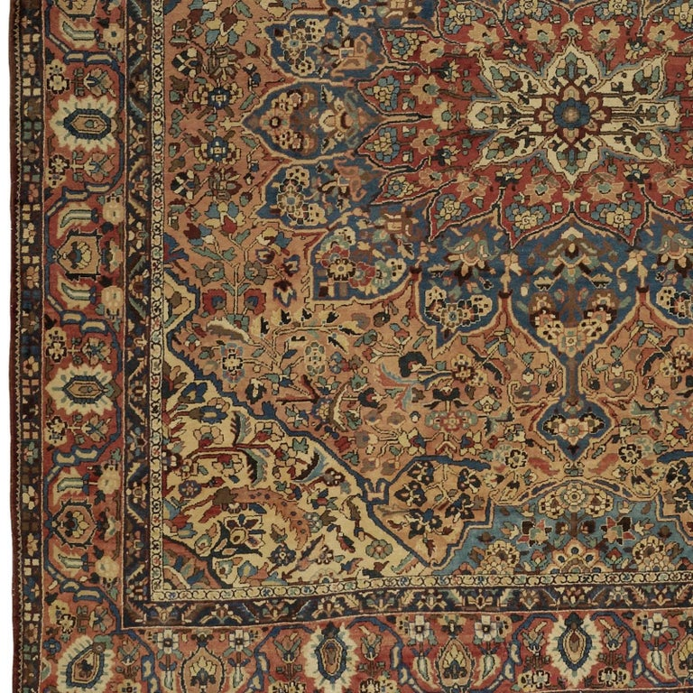 Persian Oversize Antique Bakhtiari Carpet For Sale