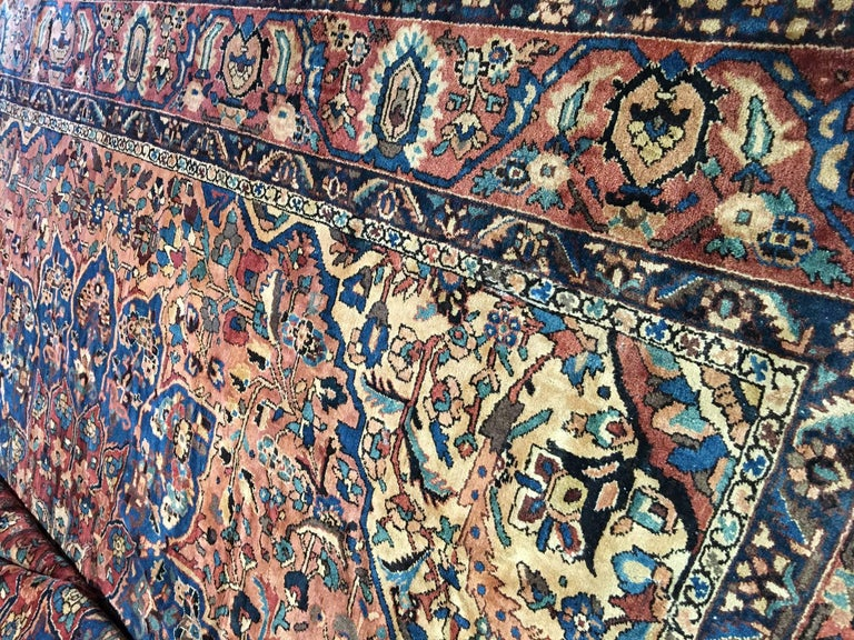 Mid-20th Century Oversize Antique Bakhtiari Carpet For Sale