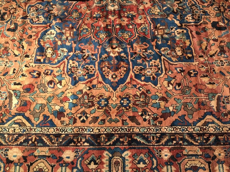 Wool Oversize Antique Bakhtiari Carpet For Sale