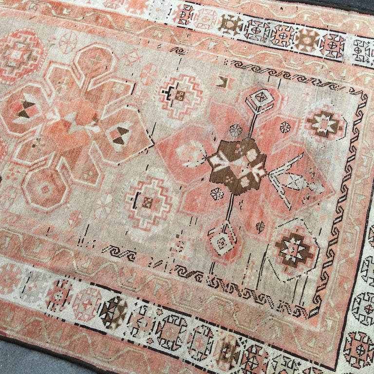 Wool Antique Caucasian Karabagh Rug For Sale