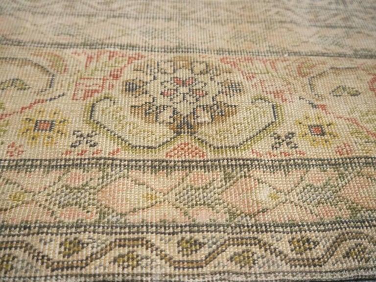 Antique Turkish Distressed Bandirma Silk Prayer Rug For Sale 1