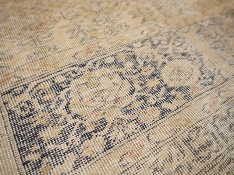 Antique Turkish Distressed Bandirma Silk Prayer Rug For Sale 2