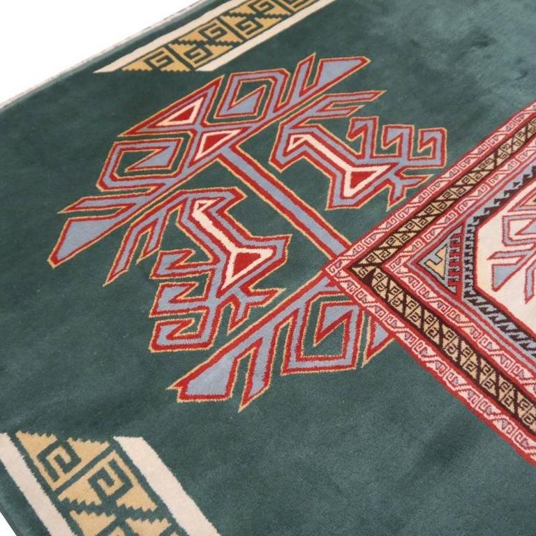 Hand-Knotted Turkish Marby Design Oushak Rug For Sale