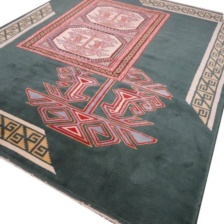 Turkish Marby Design Oushak Rug In Excellent Condition For Sale In Lohr, Bavaria, DE