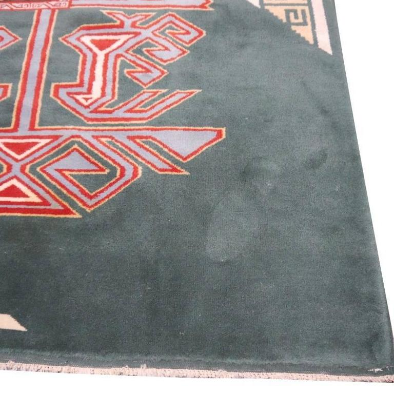 20th Century Turkish Marby Design Oushak Rug For Sale