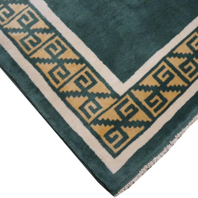 Wool Turkish Marby Design Oushak Rug For Sale