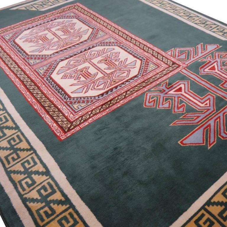 Turkish Marby Design Oushak Rug For Sale 1