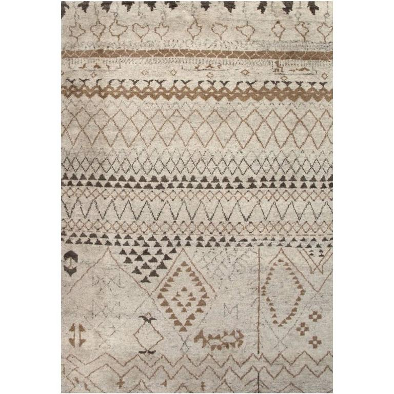 Beni Ahmad Moroccan Design Contemporary Rug For Sale