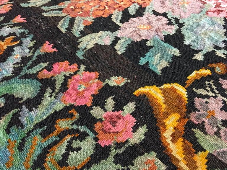 Hand-Woven Bessarabian Kilim Rug For Sale