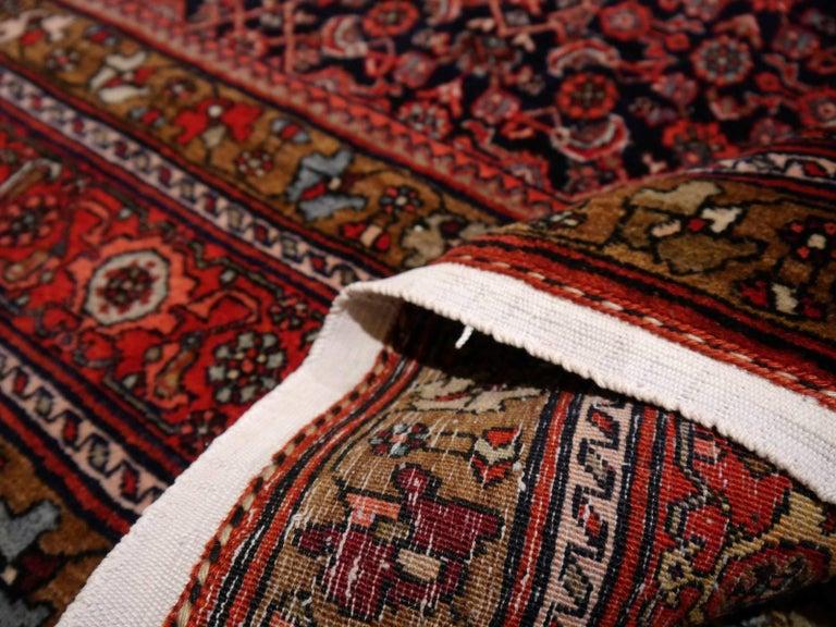 Midcentury Vintage Persian Bidjar Rug For Sale 1
