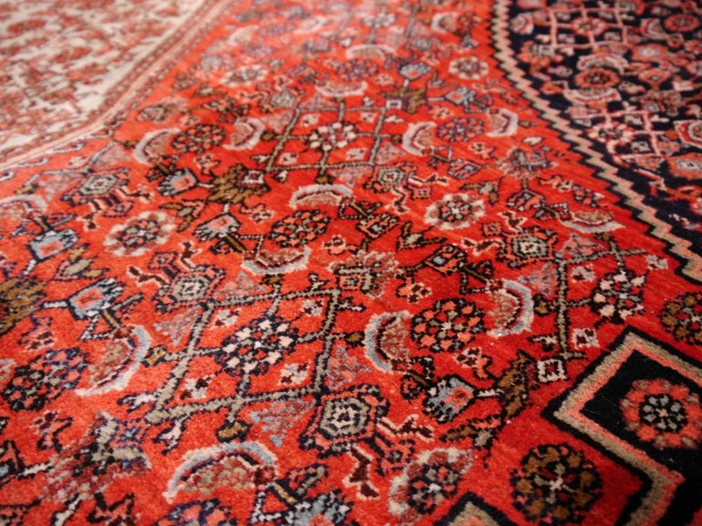 Midcentury Vintage Persian Bidjar Rug For Sale 3