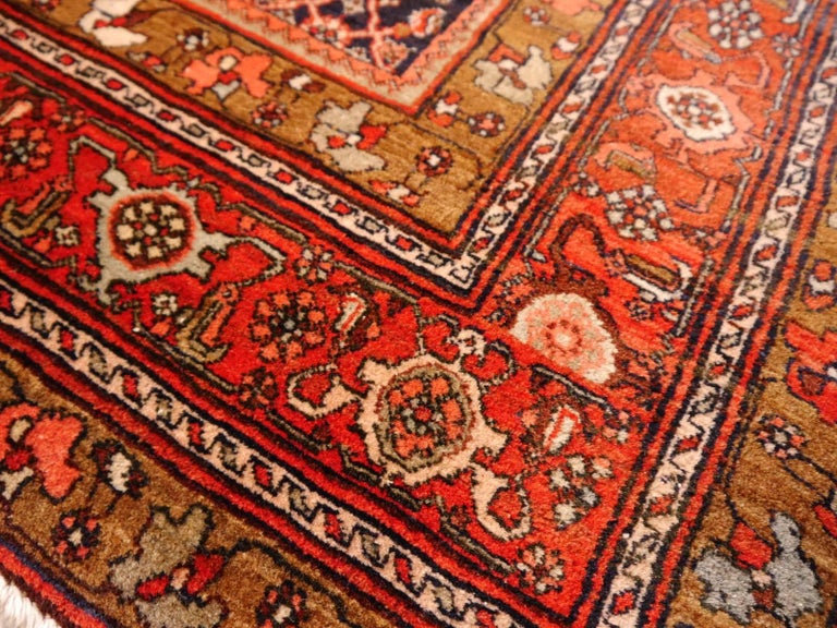 Wool Midcentury Vintage Persian Bidjar Rug For Sale