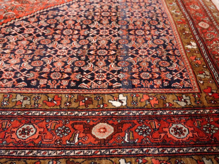 Midcentury Vintage Persian Bidjar Rug In Excellent Condition For Sale In Lohr, Bavaria, DE