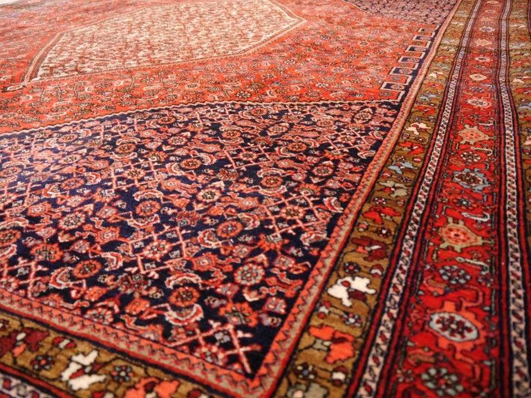 Midcentury Vintage Persian Bidjar Rug For Sale 2