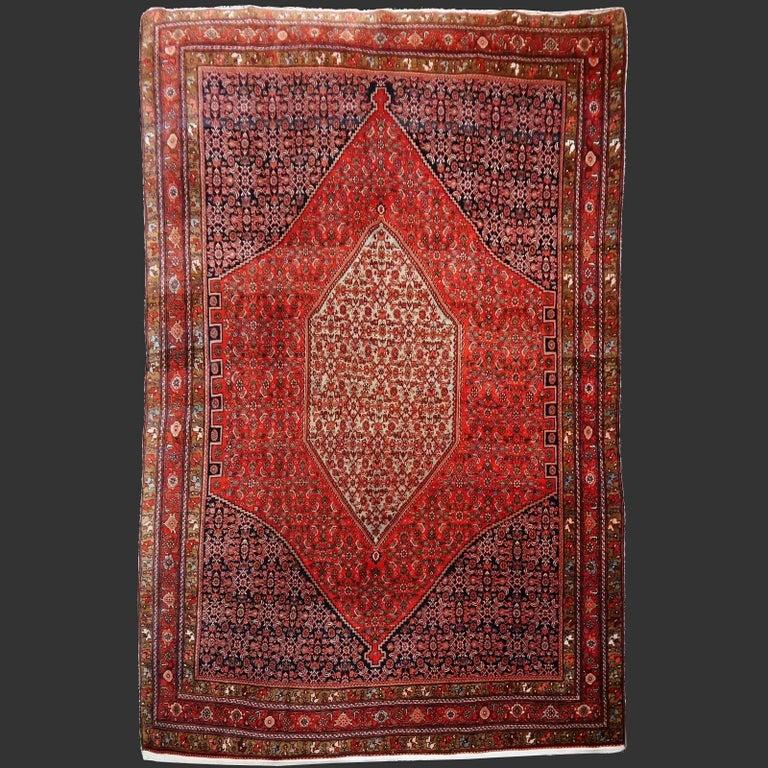 Midcentury Vintage Persian Bidjar Rug For Sale 4