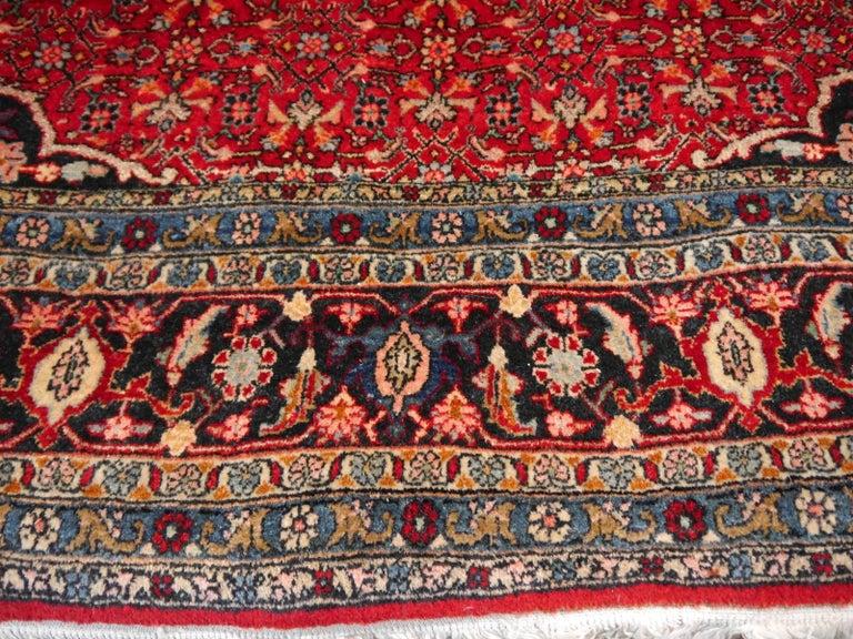 Semi Antique Persian Rug from Bidjar Mid-Century In Excellent Condition For Sale In Lohr, Bavaria, DE