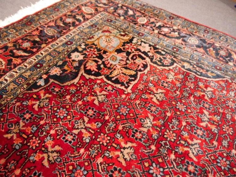 Semi Antique Persian Rug from Bidjar Mid-Century For Sale 1